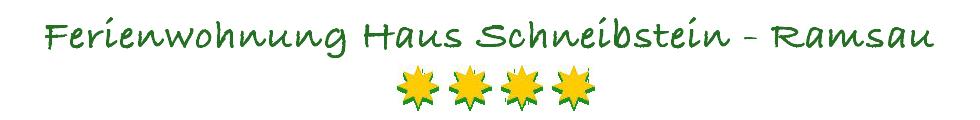 Ferienwohnung - Haus-Schneibstein