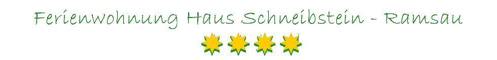 Ferienwohnung Haus Schneibstein - Ramsau